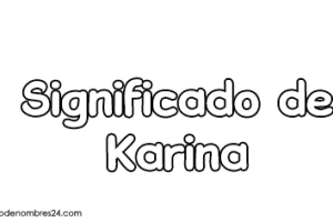 significado de Karina