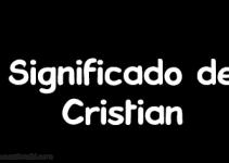 significado de cristian