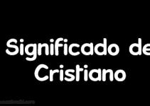 significado de cristiano