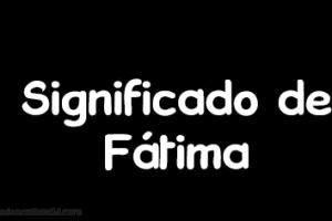 significado de fatima