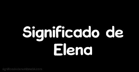 significado de Elena