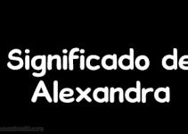 significado de alexandra