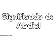 significado de abdiel