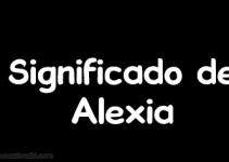 significado de alexia