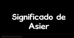 significado de asier