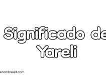 significado de yareli