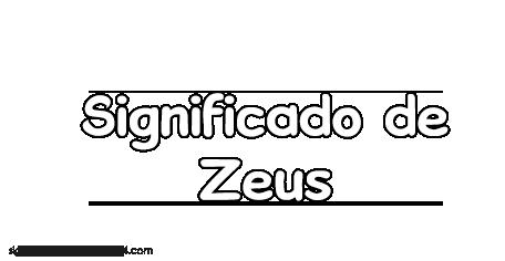 significado de zeus