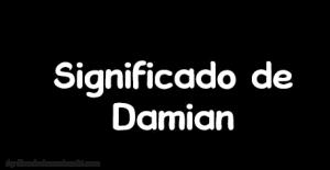 significado de damian