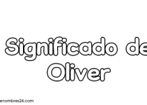 significado de oliver