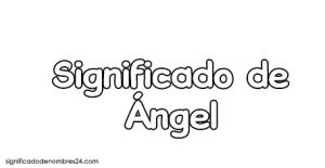 significado de angel