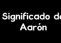 significado de aaron