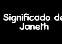 significado de janeth